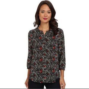 NYDJ heart print blouse L